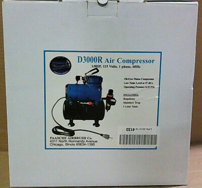 NEW OPEN BOX Paasche D3000R 1/8 HP Compressor with Tank $253 - READ