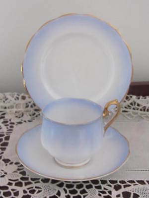 Vintage Royal Albert ''rainbow - Blue'' -  Cup / Saucer / Plate Trio