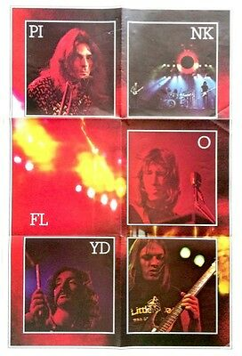 PINK FLOYD-2X Vintage DARK SIDE OF THE MOON fold out posters from Vinyl LP