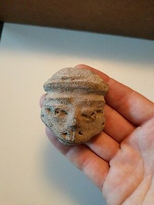 Pre Columbian Artifact Stone Face , Central America