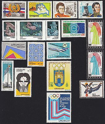 URUGUAY Scott 1003//1090 MNH - 1978-1980 - 12 Issues including Xmas, Olympics