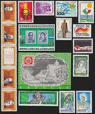 URUGUAY Scott 850//872 MNH - 1973 - 13 Issues including 2 Souvenir Sheets