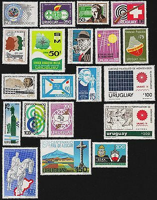 URUGUAY Scott 873//905 MNH - 1974 - 18 Issues