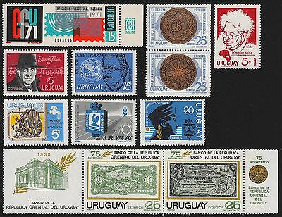 URUGUAY Scott 791//C380 MNH - 1971 - 15 Issues