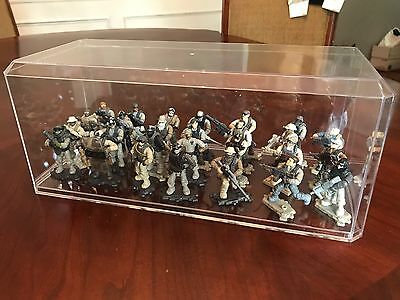 MEGA BLOKS CONSTRUX LOT Of 2 LARGE DISPLAY CASES FOR HALO / CALL OF DUTY