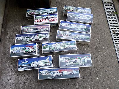 Hess Trucks Lot Of 13 Trucks New In Box Collectable