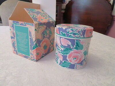 Rare Vintage 1990 Avon Skin So Soft Candle In Pastel Floral Tin New In Box
