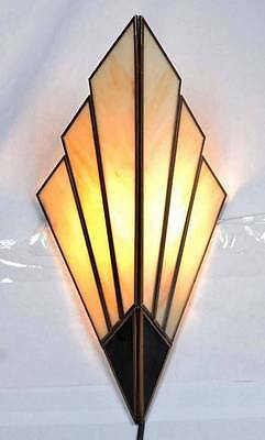 Art Deco wall Sconces - wall  lights 1930's style (cream & Gold)