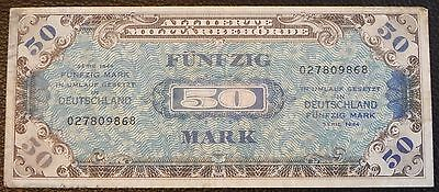 GERMANY - 50 mark - 1944 - Pick 196b (9 digit serial without F)