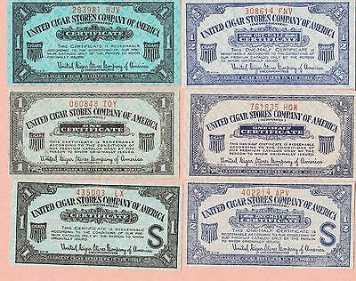 12 Different Coupon United Cigar Store Company  Of America