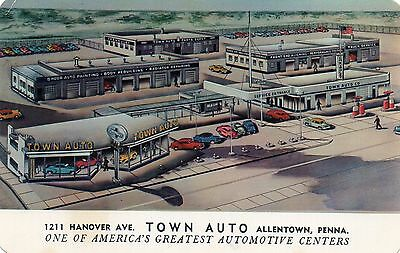 """""""town Auto"""" Center,chevrolet Agency-Lehigh Valley,allentown,pa 1956"""
