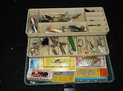 Vintage Old Pal Tackle Box Full Of Lures - Other