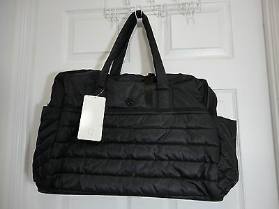 New With Tag Lululemon Get Lost Duffel Bag Black Gym Yoga Work Travel