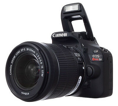 Brand New Canon EOS Rebel SL1 18.0MP DSLR Camera with 18-55mm IS STM Lens Black