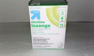 <1> UP & UP Nicotine Lozenge 4 mg Mint  Box of 72 pcs Exp.10/18 FREE SHIP