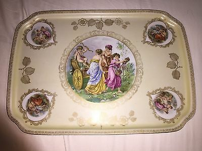 VINTAGE WOMEN with WOMEN SEDUCTIVELY  PORCELAIN TRAY Mitterteich Bavaria