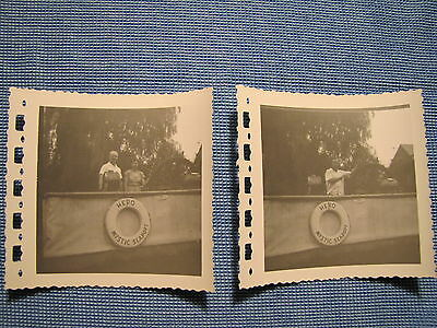 Vtg Two 1950s Mystic Seaport Connecticut Boat Life Saving Ring Vacation Pictures
