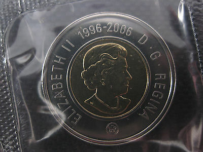 2006 Canadian Prooflike Toonie ($2.00) RARE Key Double Date 1996-2006 Top