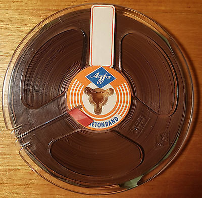 "Boxed 13cm 5"" 1/4"" Inch Tape Agfa Magnetonband Reel-to-Reel Magnetic Tape Spool"