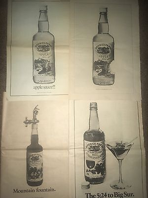 4 Lot Boone's Farm Fruit Wine Advertisement Ponup Poster Apple Grape Strawberry