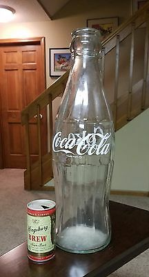 "Giant 20"" Tall Glass Coca Cola Coke Bottle"