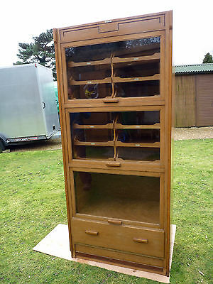 Vintage Haberdashery Cabinet Shop Counter Display Glass Art Deco Industrial
