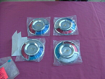 1959 Ford Galaxie Sunray wheel cover emblems, set 4, new!