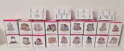 Liberty Falls Americana Collection Eighteen Buildings & 4 Pewter Figurine Sets
