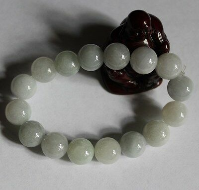 Certified Natural (A) Untreated Light Green Chinese Jadeite JADE Bracelet #Br449