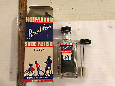 NOS Hollywood Shoe Polish original w vintage box great graphics US War Bonds Ad