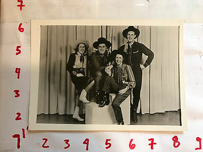 Country Western band Photograph Great Vintage Original Black & White 1940s