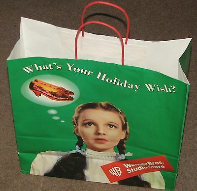 "1998 Warner Bros. Studio Store WIZARD OF OZ 16"" x 16"" x 6"" SHOPPING BAG Dorothy"