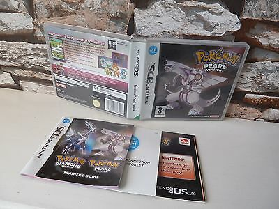 Nintendo Ds Pokemon Pearl Version ***case Manuals Only*** No Game.