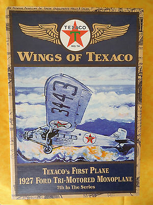 Wings of Texaco Die Cast Bank 7th 1999 Airplane 1927 Ford Tri-Motored Monoplane