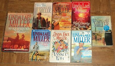 "LINDA LAEL MILLER ""ROMANCE"" PAPERBACK COLLECTION - Lot of 8 - Great Reading!!"