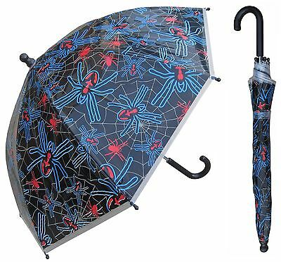 "32"" Children Spider Plastic Umbrella - RainStoppers Rain/Sun UV"