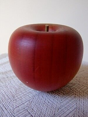 VINTAGE Handcrafted WOOD wooden FRUIT apple collectable