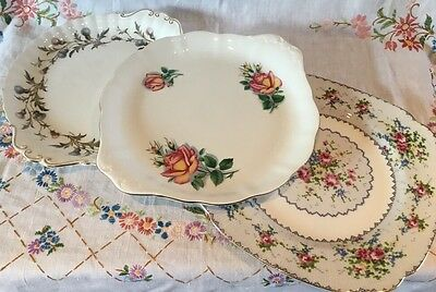*3 Royal Albert Bone China Cake Sandwich Serving Plates*