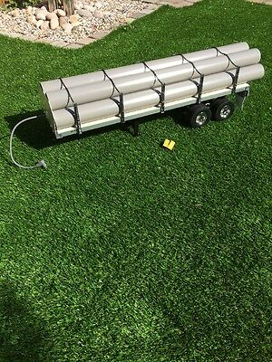 Tamiya 1:14 Scale Flatbed Trailer With MFU Light Cable & Pipe Load