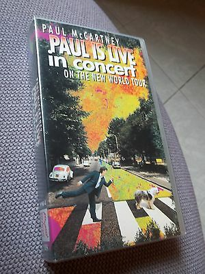 "PAUL McCARTNEY ""Paul is live"" in concert VHS"