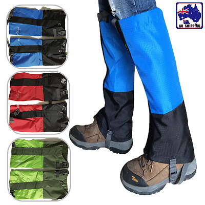 Waterproof Gaiters Leg Cover Boot Wrap Outdoor Snow Ski Climbing Hiking HSCO517