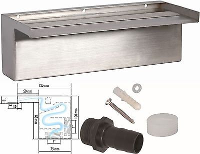seliger Stainless steel Waterfall kit waterfall Aquafall V2A 30-60-90-120-150cm