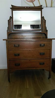 Antique/Vintage Cabinet/dressing table with original mirror