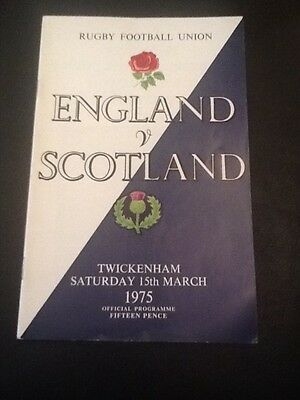 ENGLAND v SCOTLAND 1975 RUGBY PROGRAMME 15 MARCH - TWICKENHAM