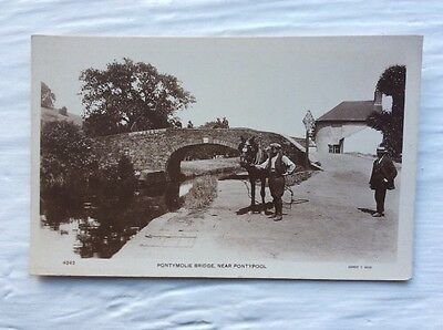 Postcard Pontymoile Bridge Pontypool Monmouthshire Canal Published Ernest Bush