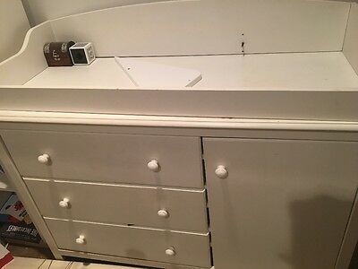 white baby change table/ kids drawers