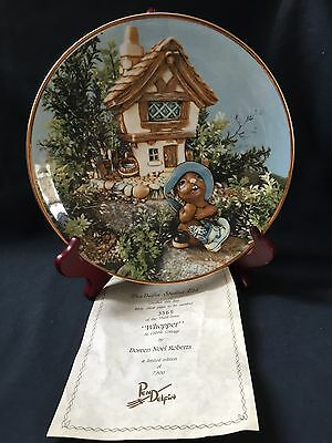 Pendelfin Limited Edition Collectors Plate Whopper At Cobble Cottage (ref P502)
