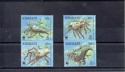KIRIBATI 1998 W W FUND SG 552 to 555 MNH - LOBSTERS