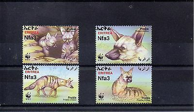 ERITREA 2001 W W FUND SG 488 to 491 MNH - AARDWOLF
