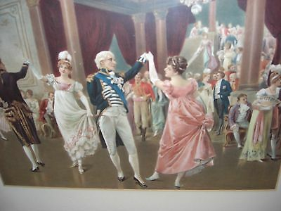 Original Antique Print of Admiral Lord Nelson and Lady Hamilton